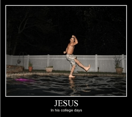 jesus Party funny college - 8102672640