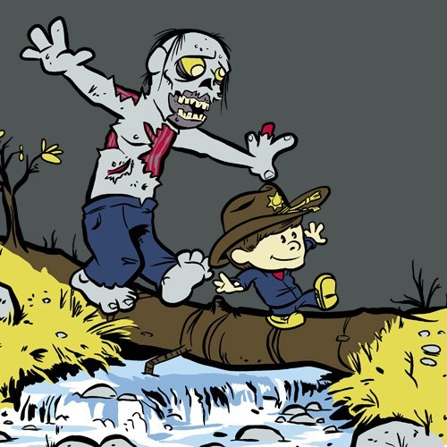calvin and hobbes tshirts carl grimes - 8102705920