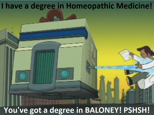 homeopathy,science,idiots,futurama,funny