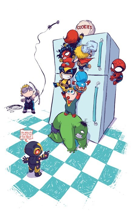Babies Straight off the Page avengers - 8102776320