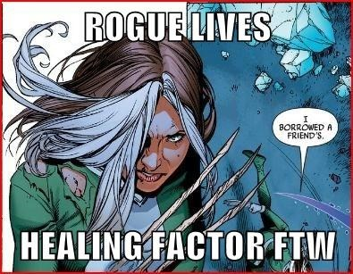 healing factor,rogue,Straight off the Page