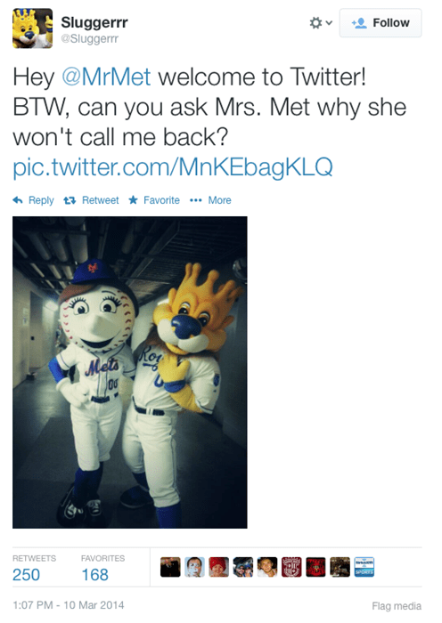 MLB Mascots Are Getting Weird on Twitter Over the Mets\'s Wife
