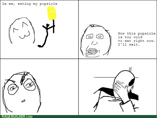 popsicle facepalm logic