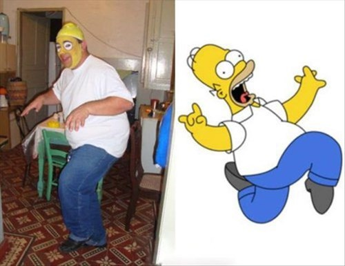 homer simpson cosplay the simpsons Nailed It - 8103082752