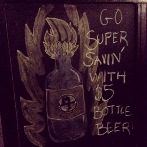 Go Super Savin' with $5 beers? Instant transmit me ASAP!