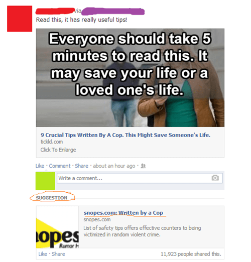 suggestion facebook snopes true facts - 8103314944