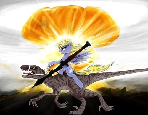 Fan Art derpy hooves Raptor BAMF - 8103421696