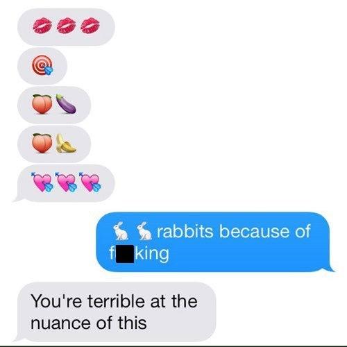 emoji sexting funny rabbits - 8103435008