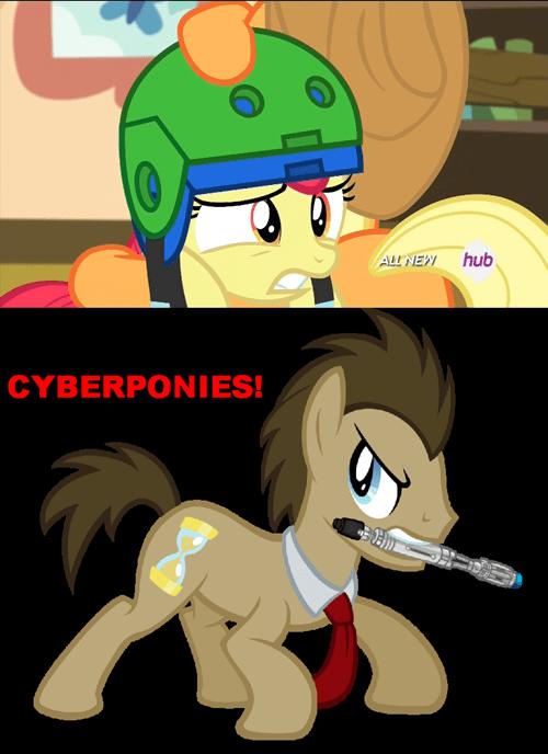 doctor whooves apple bloom cybermen - 8103497216