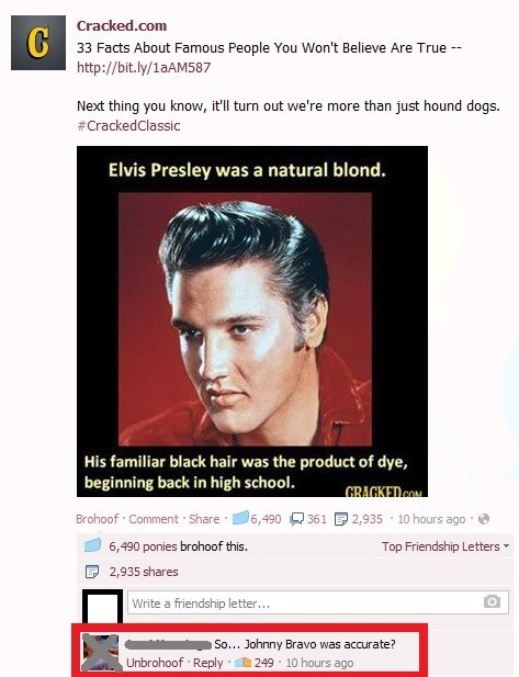 Elvis Presley,johnny bravo,nostalgia,cartoons,true facts,failbook,g rated