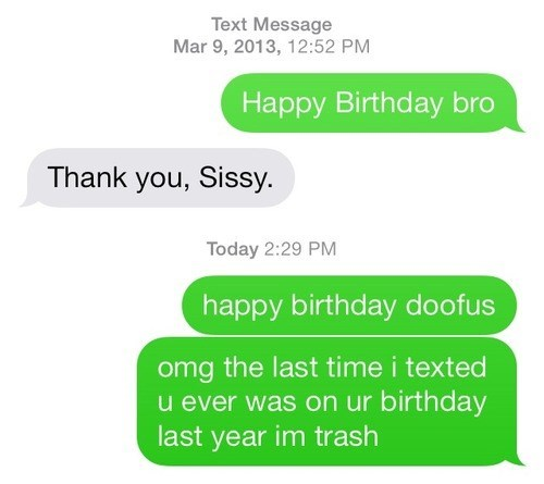 kids birthday siblings text parenting - 8103675392