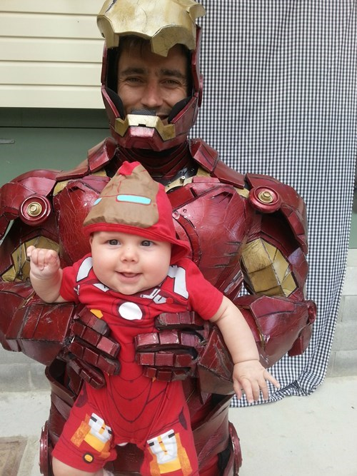 Babies,cosplay,iron man