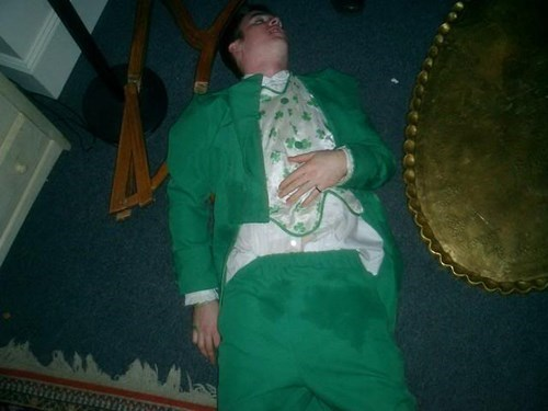 drunk St Patrick's Day passed out funny - 8103778048