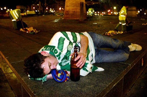 drunk park passed out sleeping funny St Patrick's Day - 8103782144