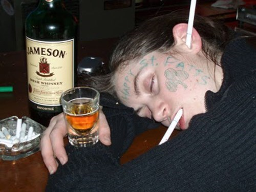 St Patrick's Day,passed out,bad luck,funny,PROTIP