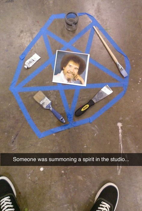 snapchat creepy bob ross g rated win - 8104008448