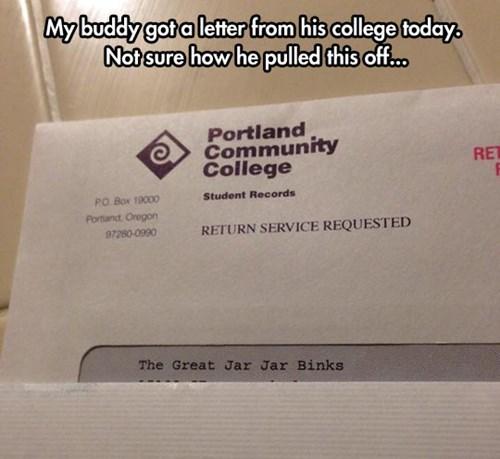 school star wars jar jar binks college - 8104047360