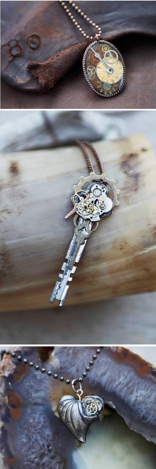 Steampunk,Jewelry,clock