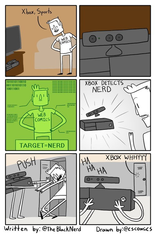 nerds gamers kinect web comics xbox one - 8104071168