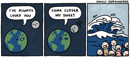 waves,moon,earth,web comics