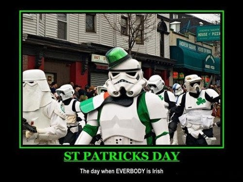 star wars,stormtrooper,St Patrick's Day,empire,funny