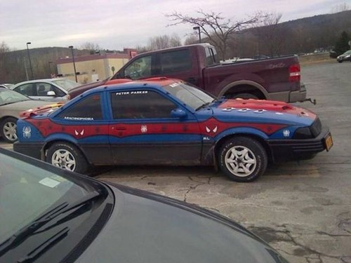 the amazing spider-man,cars,DIY,paint job