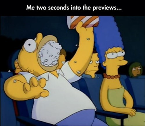 homer simpson,movies,Popcorn