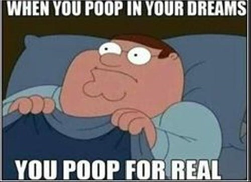 poop family guy Peter Griffin dreaming TV - 8104355072