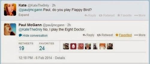 twitter paul mcgann flappy bird 8th doctor - 8104477440