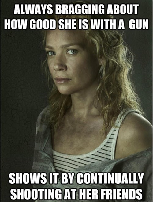guns,andrea,The Walking Dead