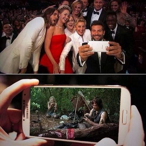selfie The Walking Dead oscars - 8105012480