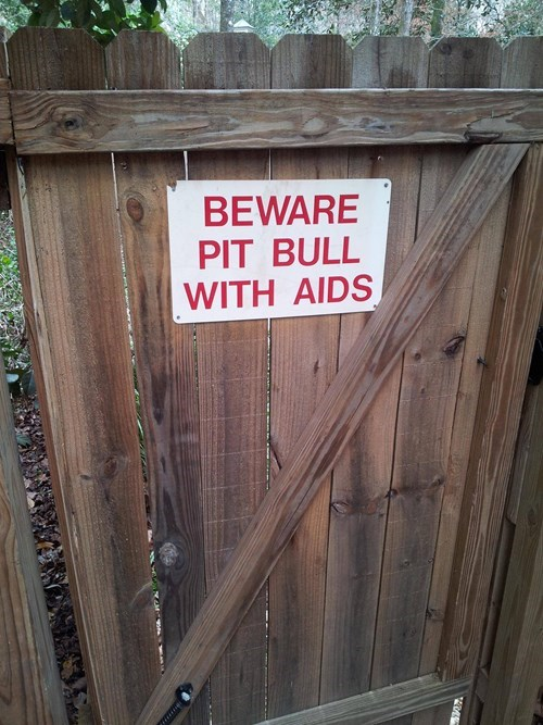 dogs beware of dog pitbull aids - 8105170432