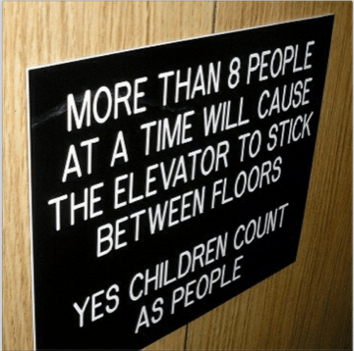 sign,elevator,kids,parenting