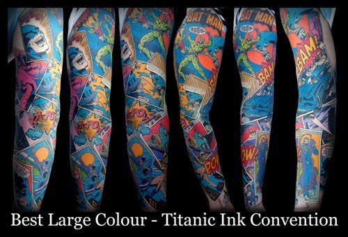 sleeve Straight off the Page tattoos batman - 8105296896