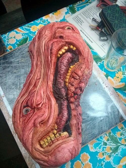 cake creepy dessert food - 8105358592