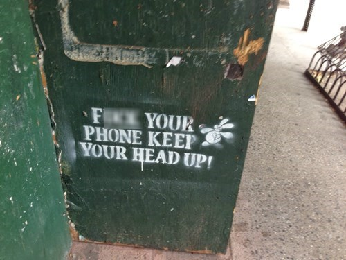 phones Street Art hacked irl - 8105367552