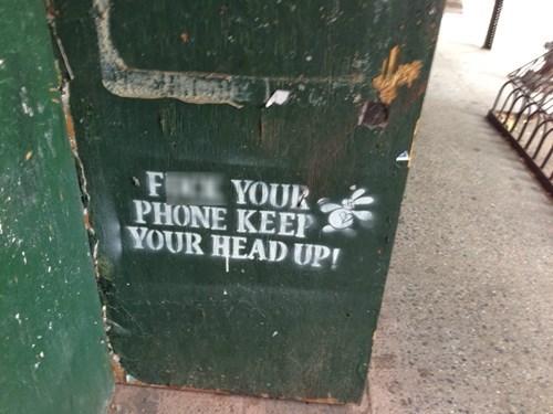 phones Street Art hacked irl - 8105367552