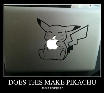 pikachu mac apples funny - 8105377024