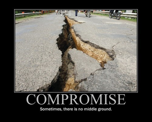 crack,road,compromise,middle ground,funny