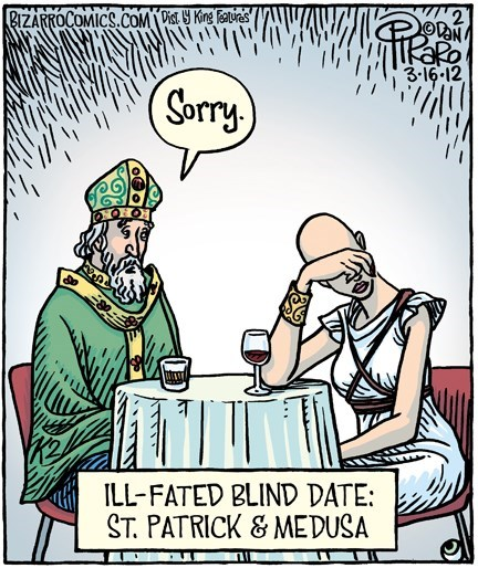 St Patrick's Day,medusa,dating,web comics