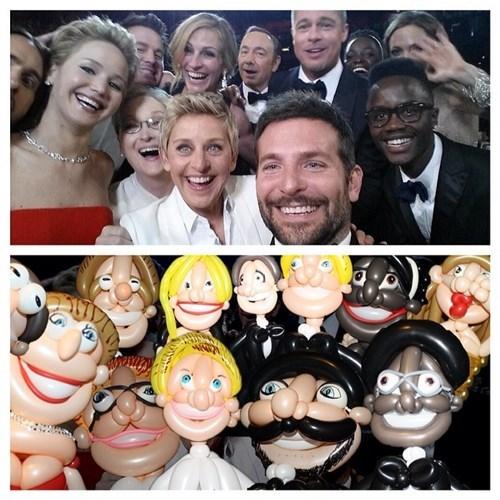 selfie art Balloons ellen degeneres oscars - 8105473792