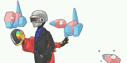 crossover,Pokémon,Fan Art,daft punk