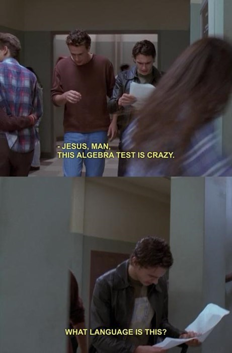 TV,freaks and geeks,math