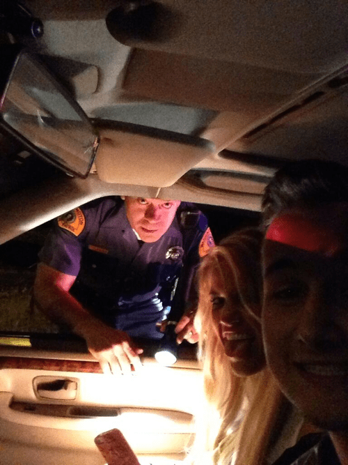 cops,selfie,bad idea