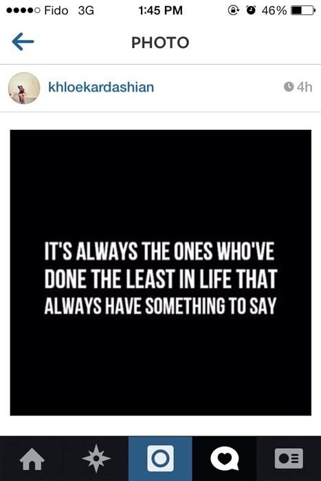 kardashian wisdom instagram irony Khloe Kardashian failbook - 8105629184