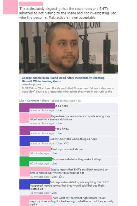 news George Zimmerman facepalm satire - 8105630464