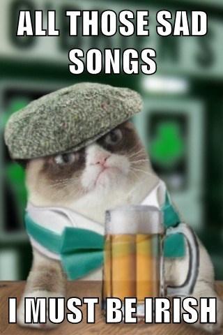 Cats irish St Patrick's Day Grumpy Cat - 8105714176