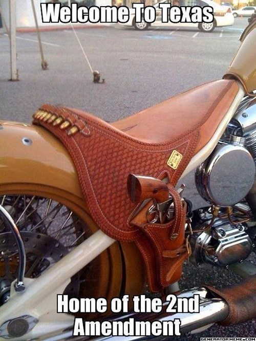 guns wtf cowboy motorcycle texas funny - 8105851136
