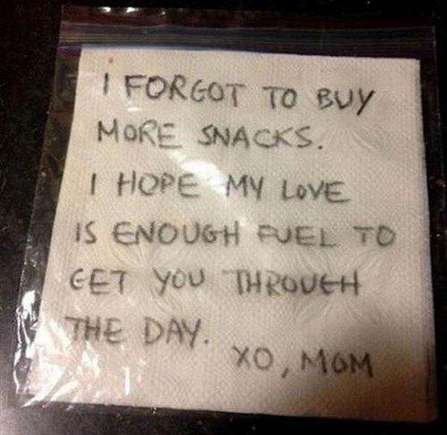 snack kids note parenting - 8106236672