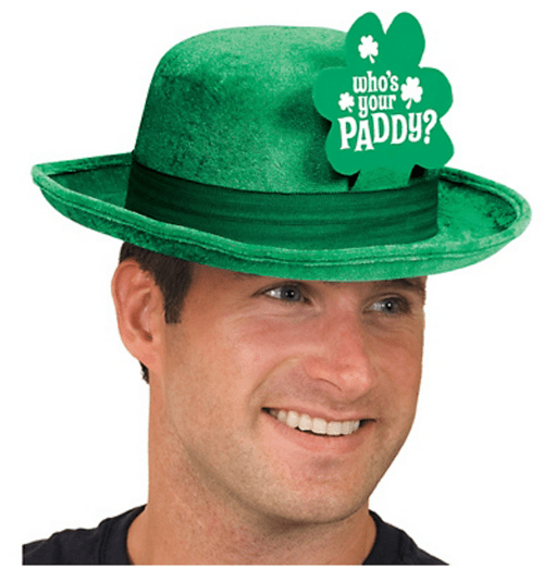 poorly dressed,St Patrick's Day,puns,pick-up lines,hat